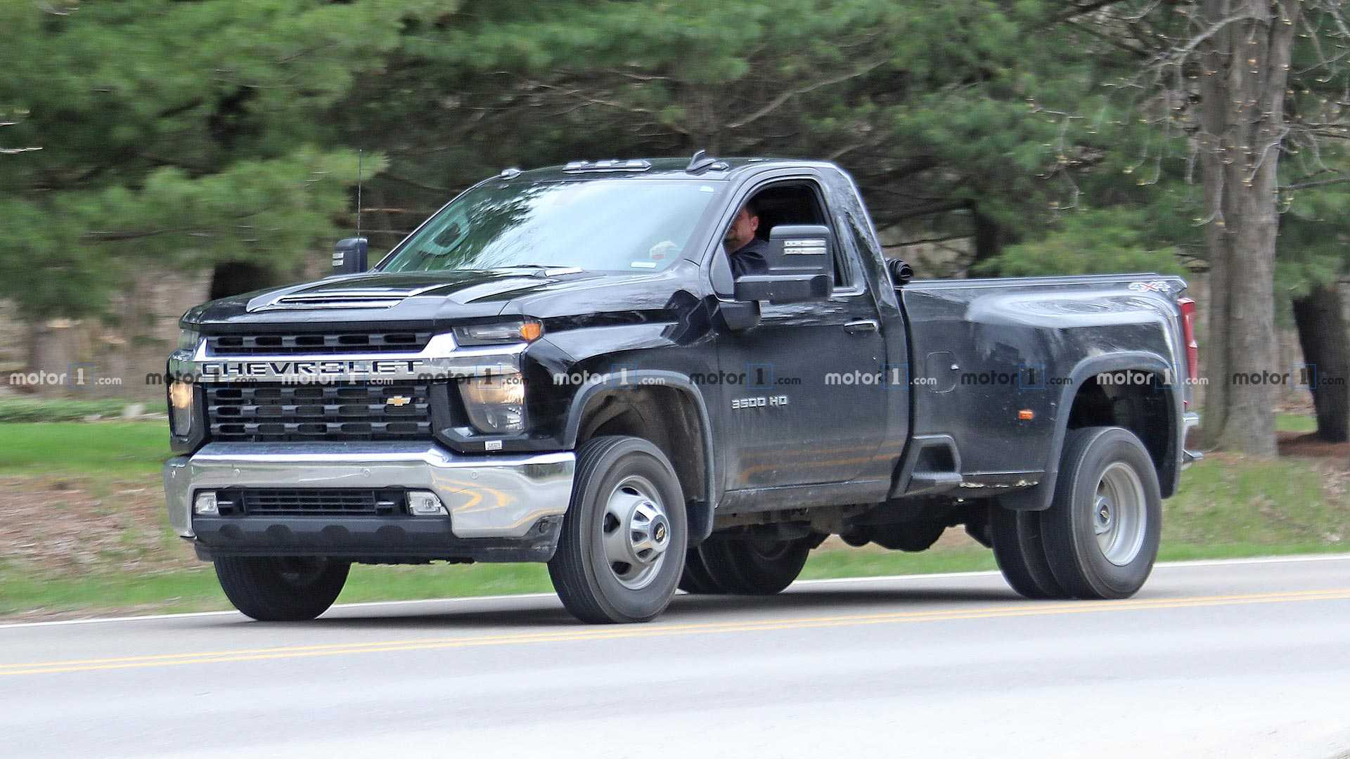 2020 Chevy Silverado Hd Single Cab Dually Spied Fully Undisguised
