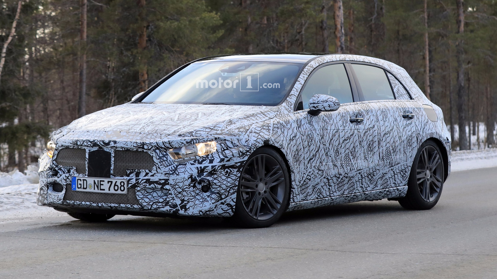 2018 mercedes a class rides low in new spy shots