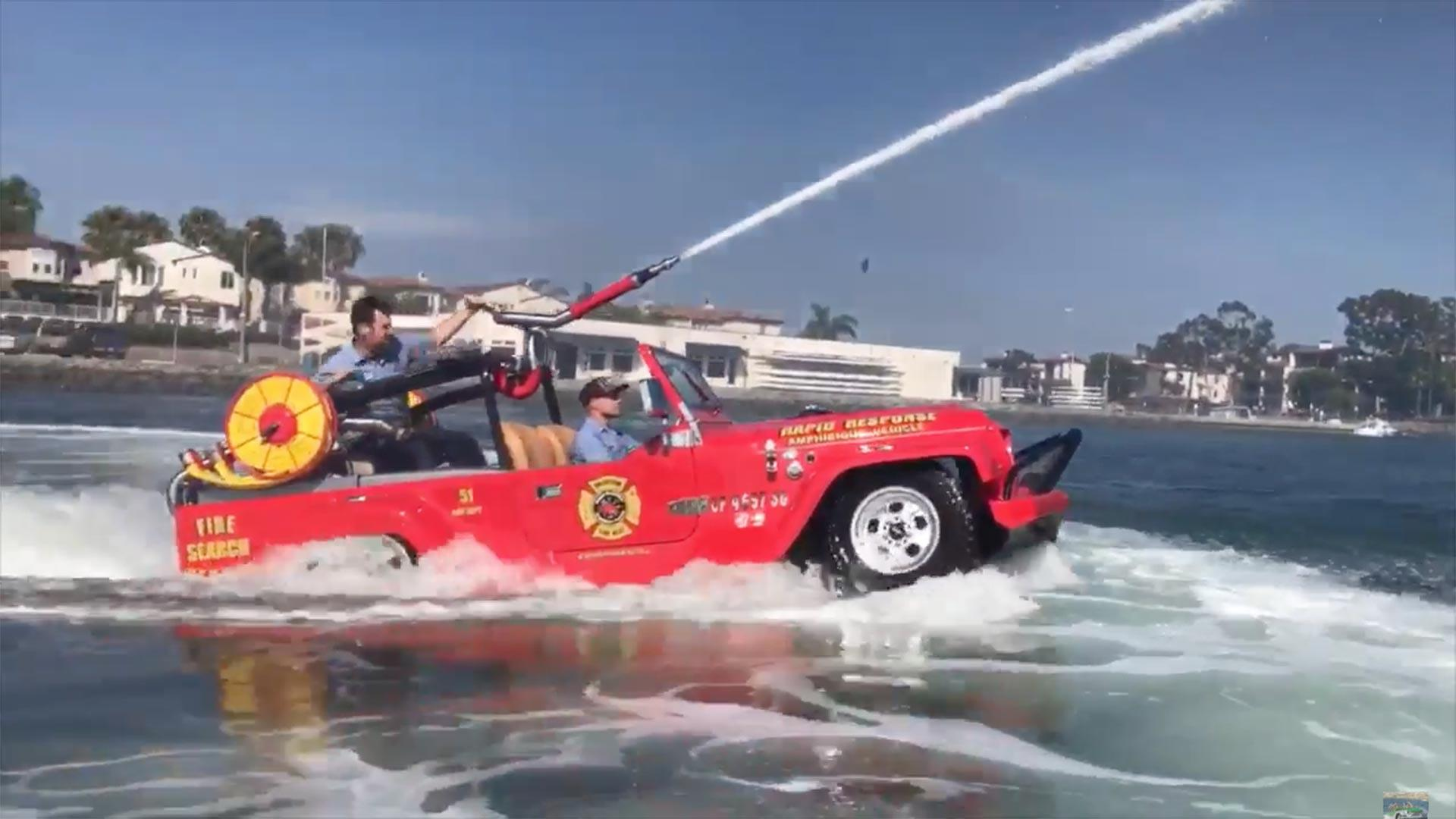 Cannon-Equipped Amphibious WaterCar Is Cool Way To Put Out Fire