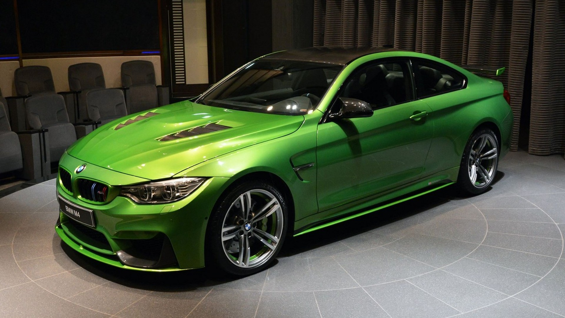 This BMW M4 Java Green is packed with extra goodies and more power