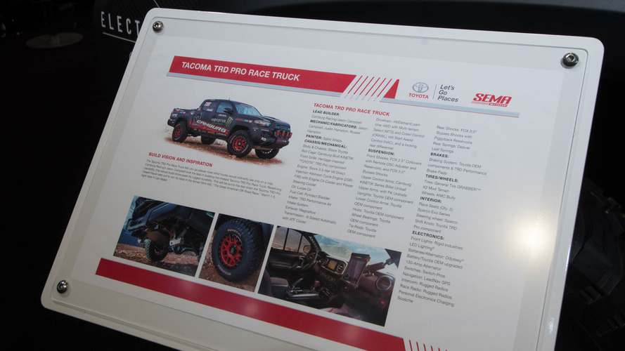 Toyota Tacoma TRD Pro Race Truck live photos