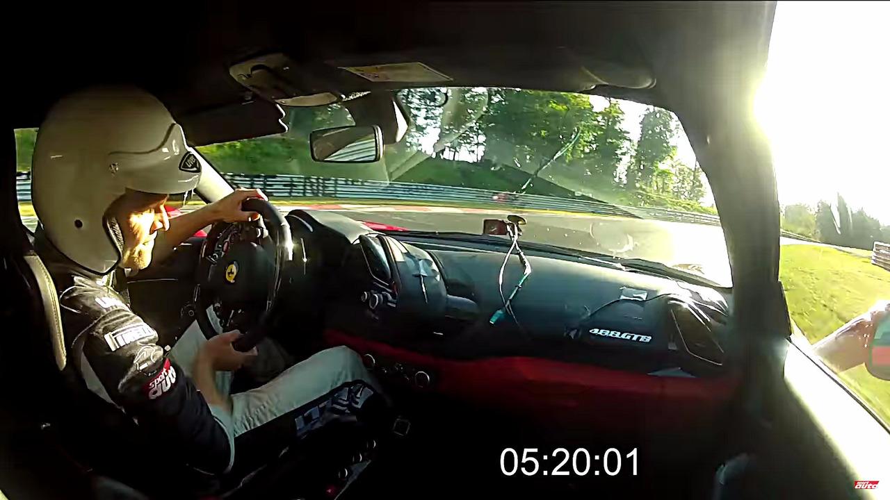 Ferrari 488 GTB Nurburgring lap