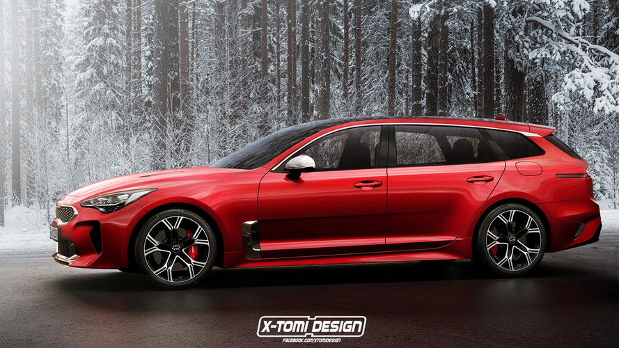 Kia Stinger GT coupe, wagon are unfortunately only renders