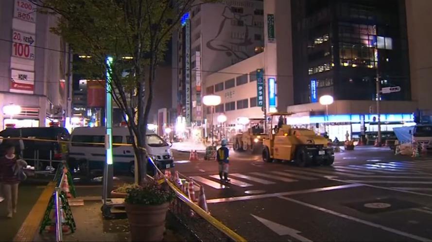 VIDÉO - Deux jours pour réparer la chaussée effondrée à Fukuoka