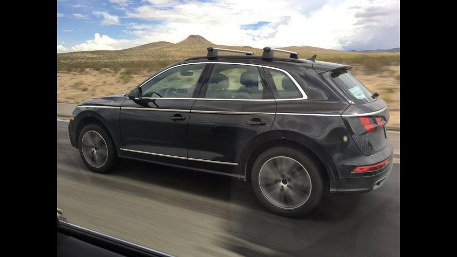 Flagra! Prestes a estrear, novo Audi Q5 é clicado quase sem disfarces