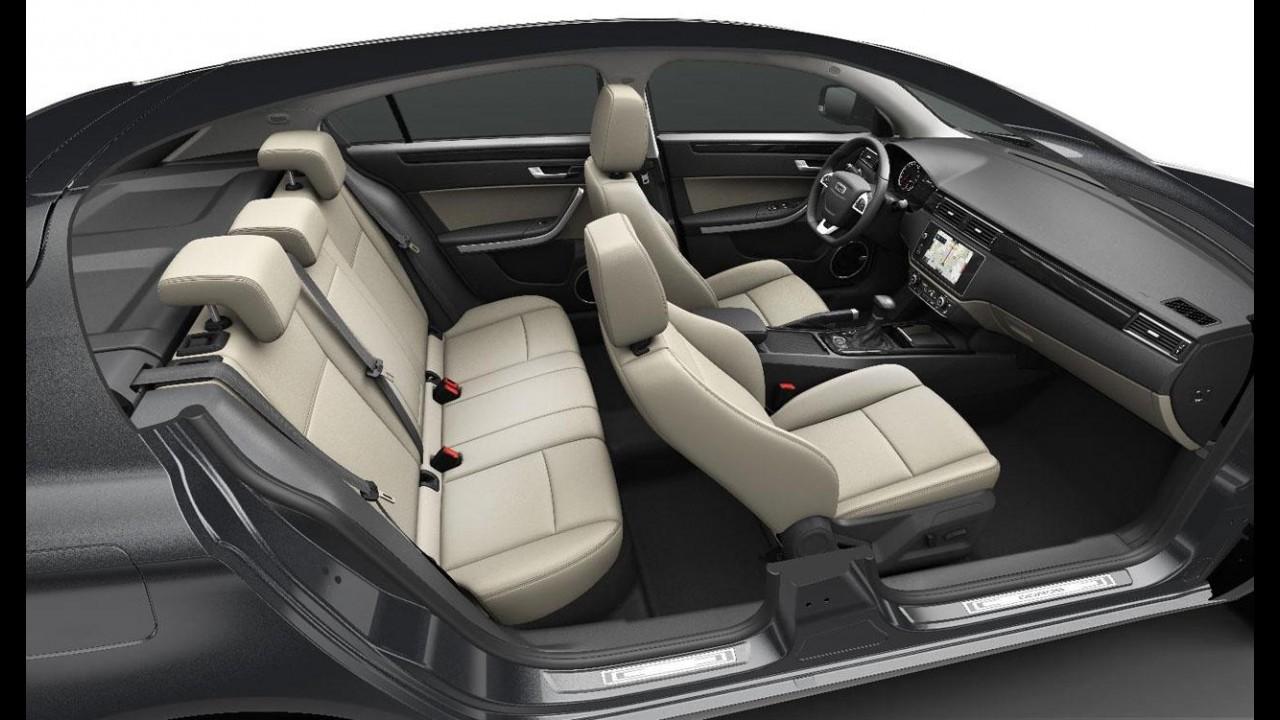 Primeiro modelo de luxo da Chery, Qoros GQ3 tem imagens oficiais divulgadas