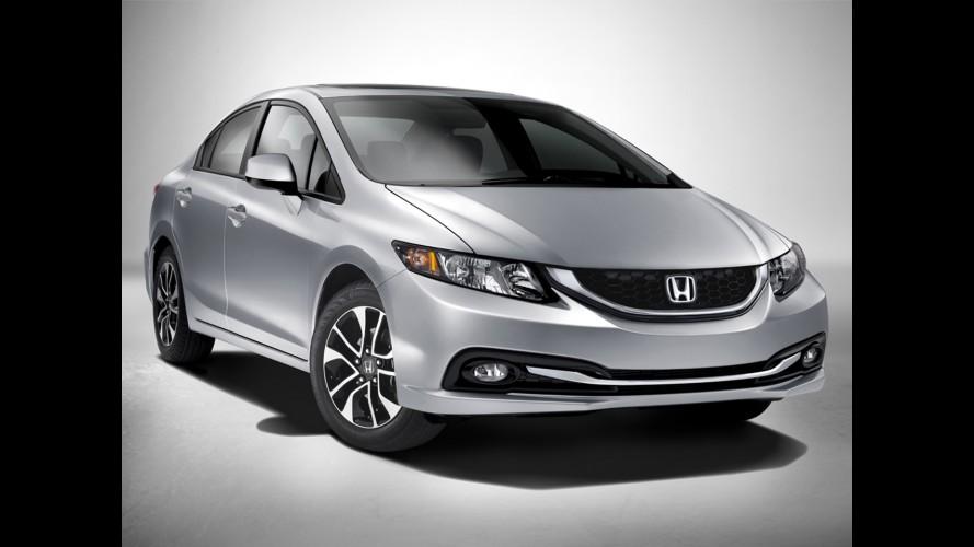 Honda exibe Civic 2013 no Salão de Los Angeles