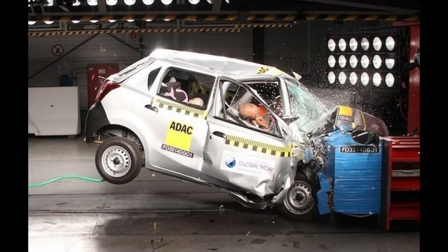 """Datsun Go e Maruti Swift dão vexame e """"zeram"""" no NCAP indiano"""
