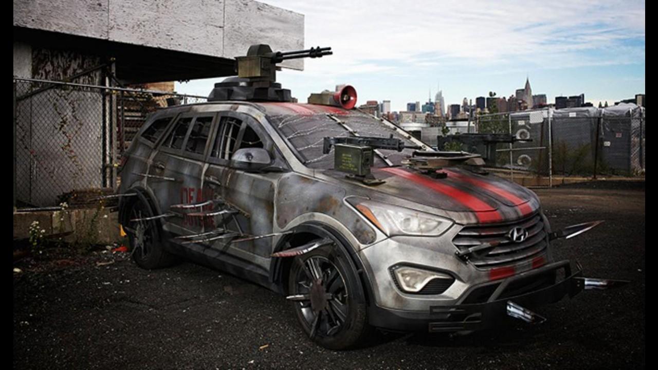 The Walking Dead: Hyundai mostra jipão Santa Fe pronto para o combate