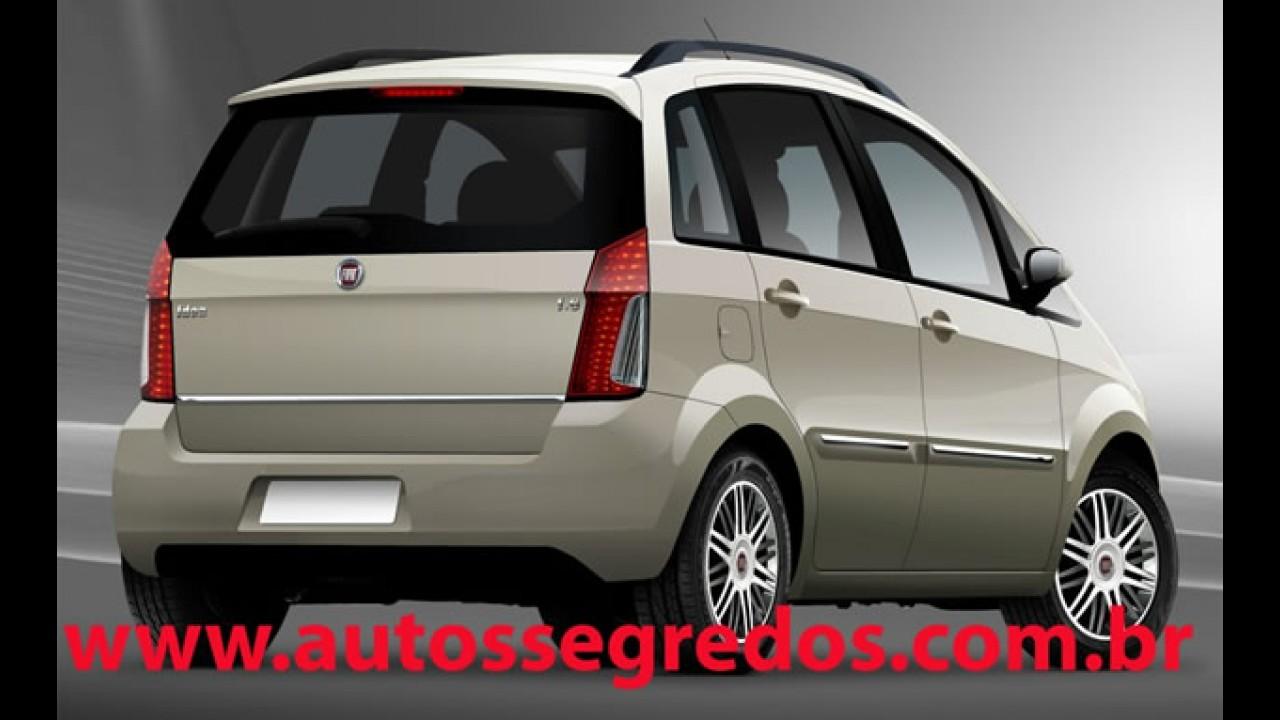 Projeção mostra o novo visual do Fiat Idea 2011