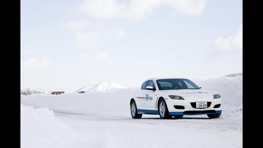 La Mazda RX-8 Hydrogen RE... al freddo