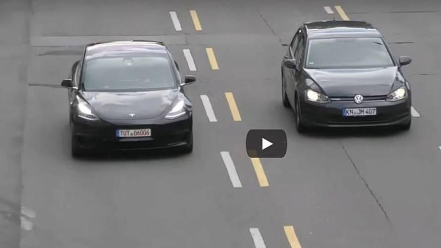 Watch Tesla Model 3 Strut Its Stuff In Stuttgart
