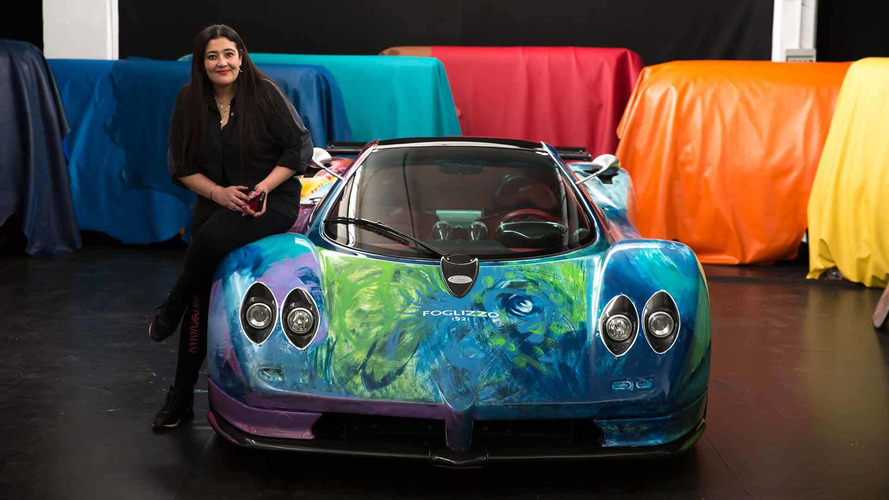 Hand-Painted Pagani Zonda Art Car