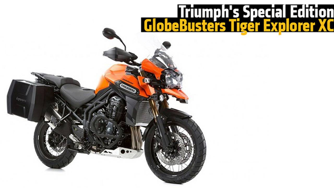 Triumph's Special Edition GlobeBusters Tiger Explorer XC