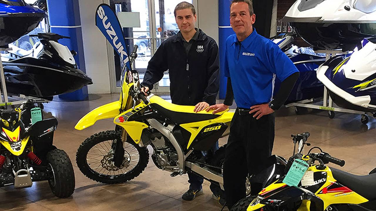 Military Appreciation Auction Winner Picks Up New Suzuki RM-Z250