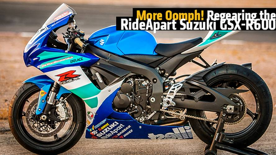 More Oomph! Regearing the RideApart Suzuki GSX-R600 Project Bike