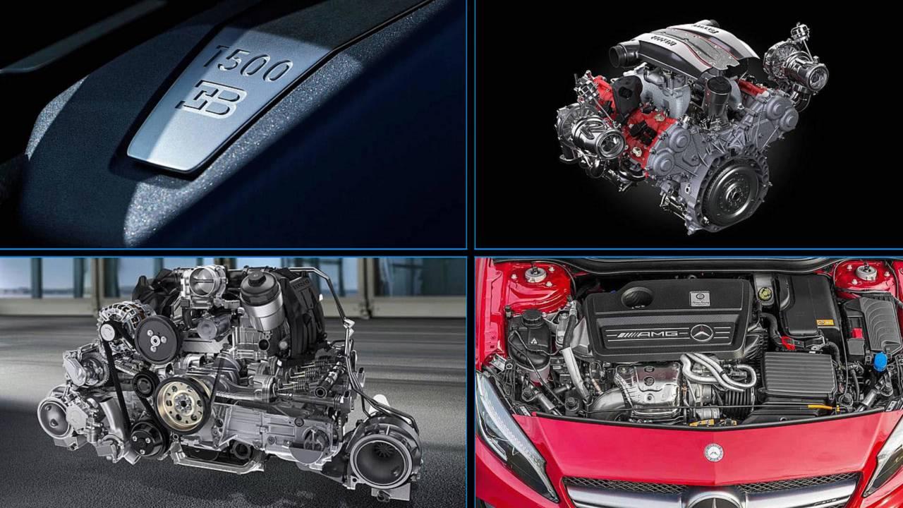 Motores más potentes por número de cilindros