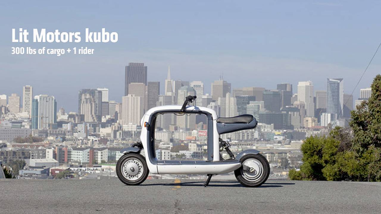 Lit Motors kubo — A Load-Carrying Electric Scooter