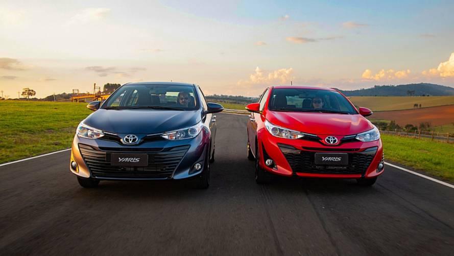 Toyota Yaris fica até R$ 2,6 mil mais caro e parte de R$ 61.590