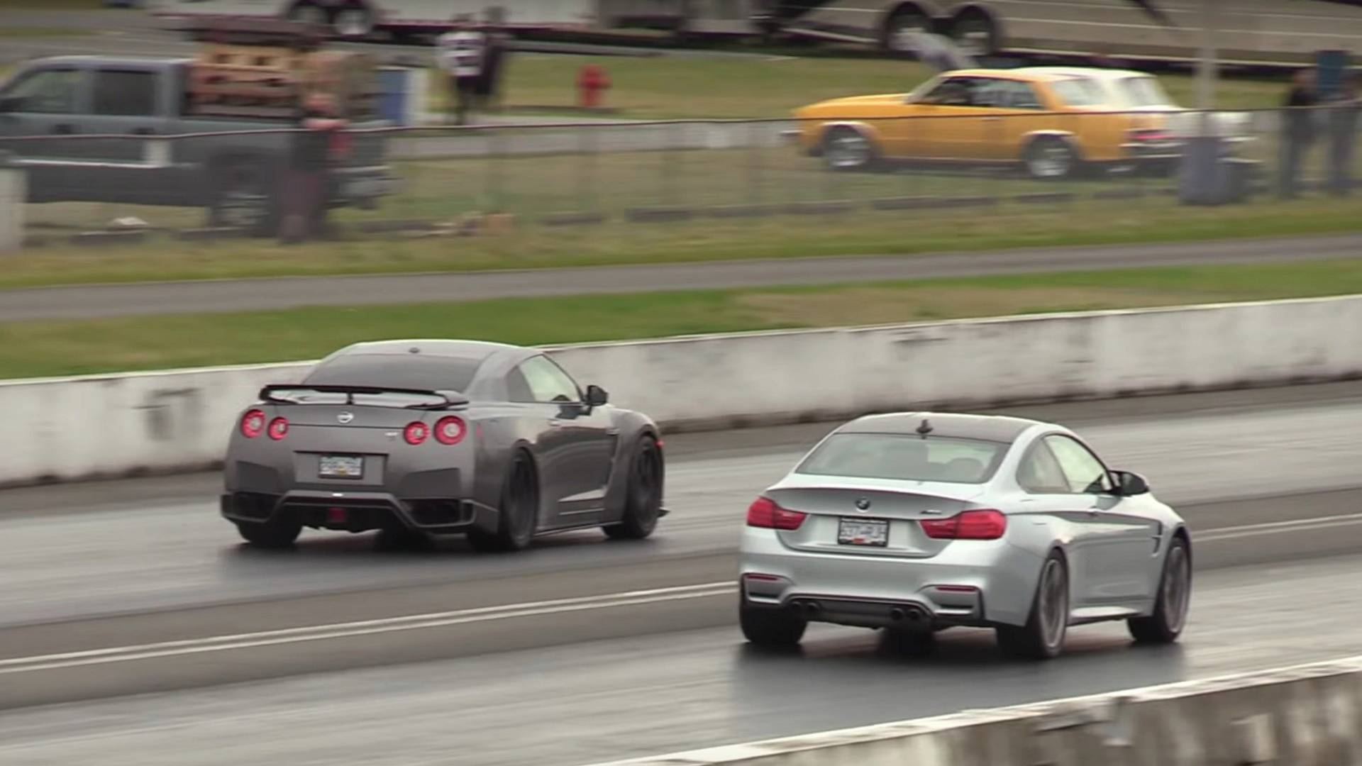 Place your bets nissan gt r vs bmw m4 drag race