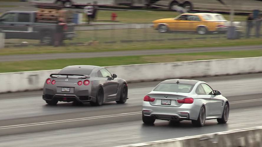 Place your bets: Nissan GT-R vs BMW M4 drag race