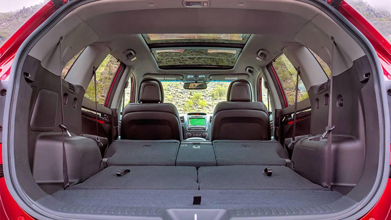 2014 Kia Sorento seats folded