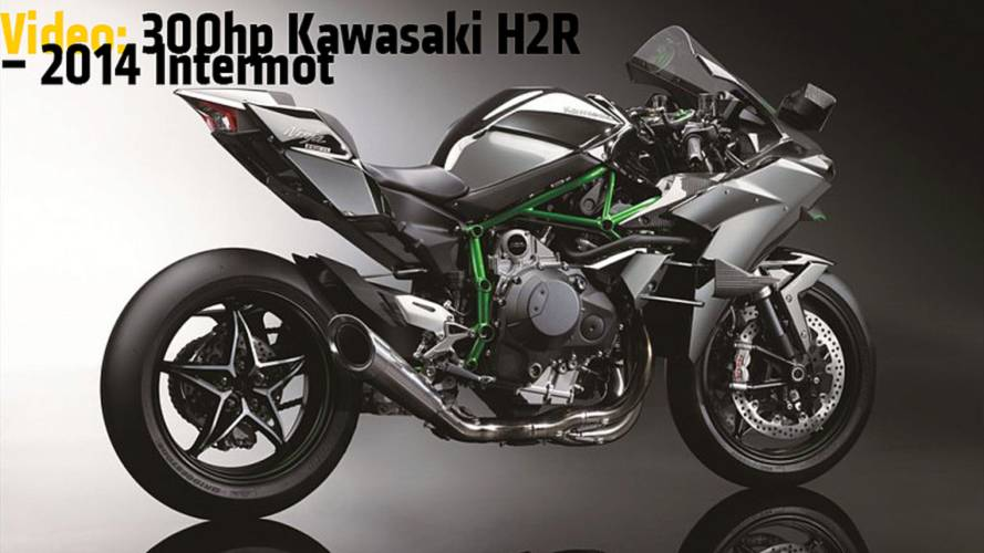 Video: 300hp Kawasaki H2R - 2014 Intermot