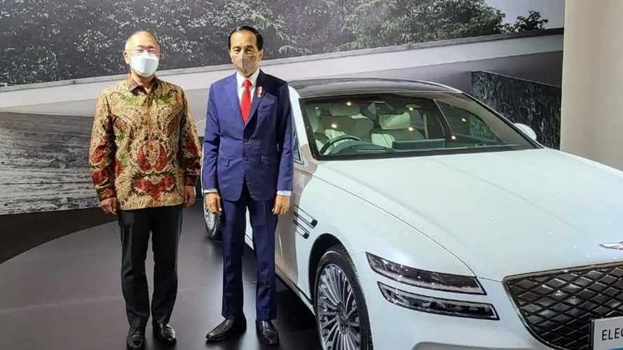 Jokowi Pilih Genesis Electrified G80 Jadi Mobil Resmi KTT G20