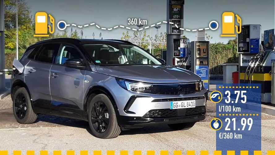 Opel Grandland diesel (2021), la prova dei consumi reali
