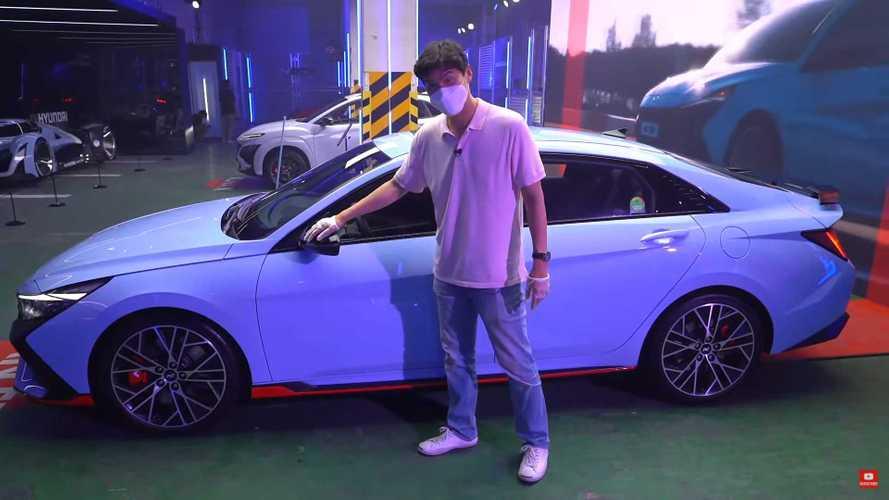 See Hyundai Elantra N Up Close And Personal In Walkaround Video