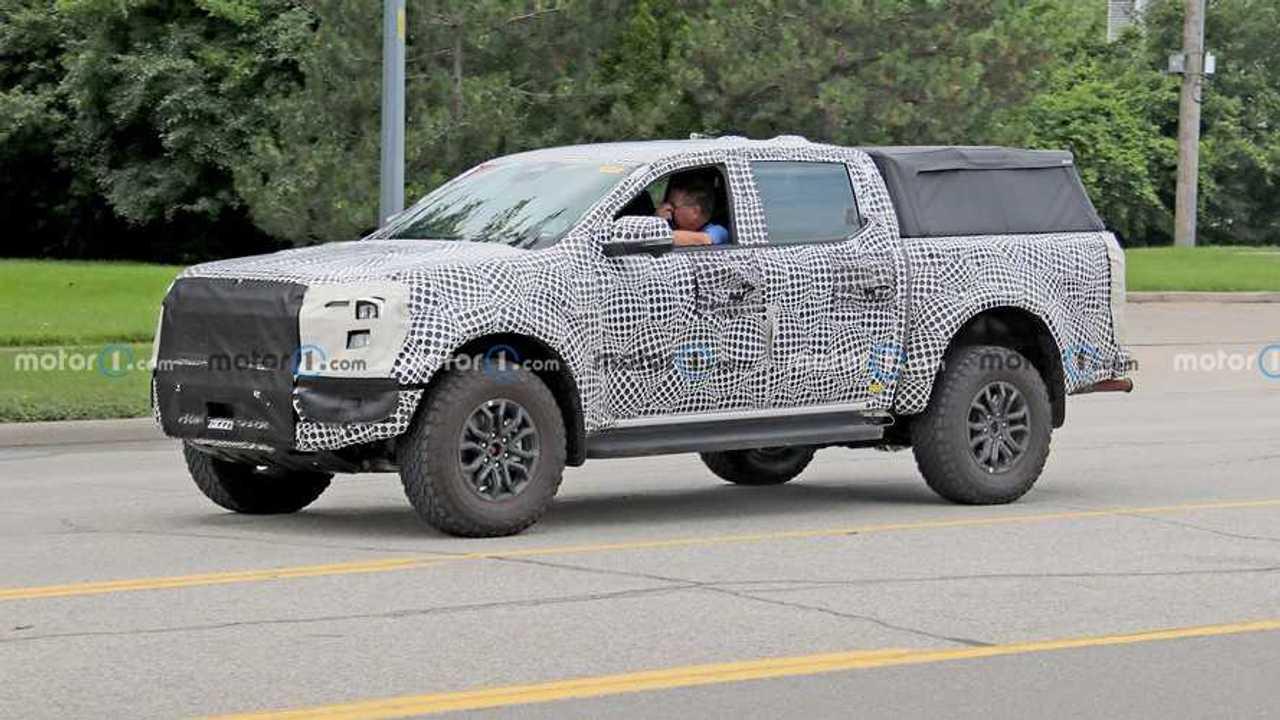 2023 Ford Ranger Raptor LHD spy photo