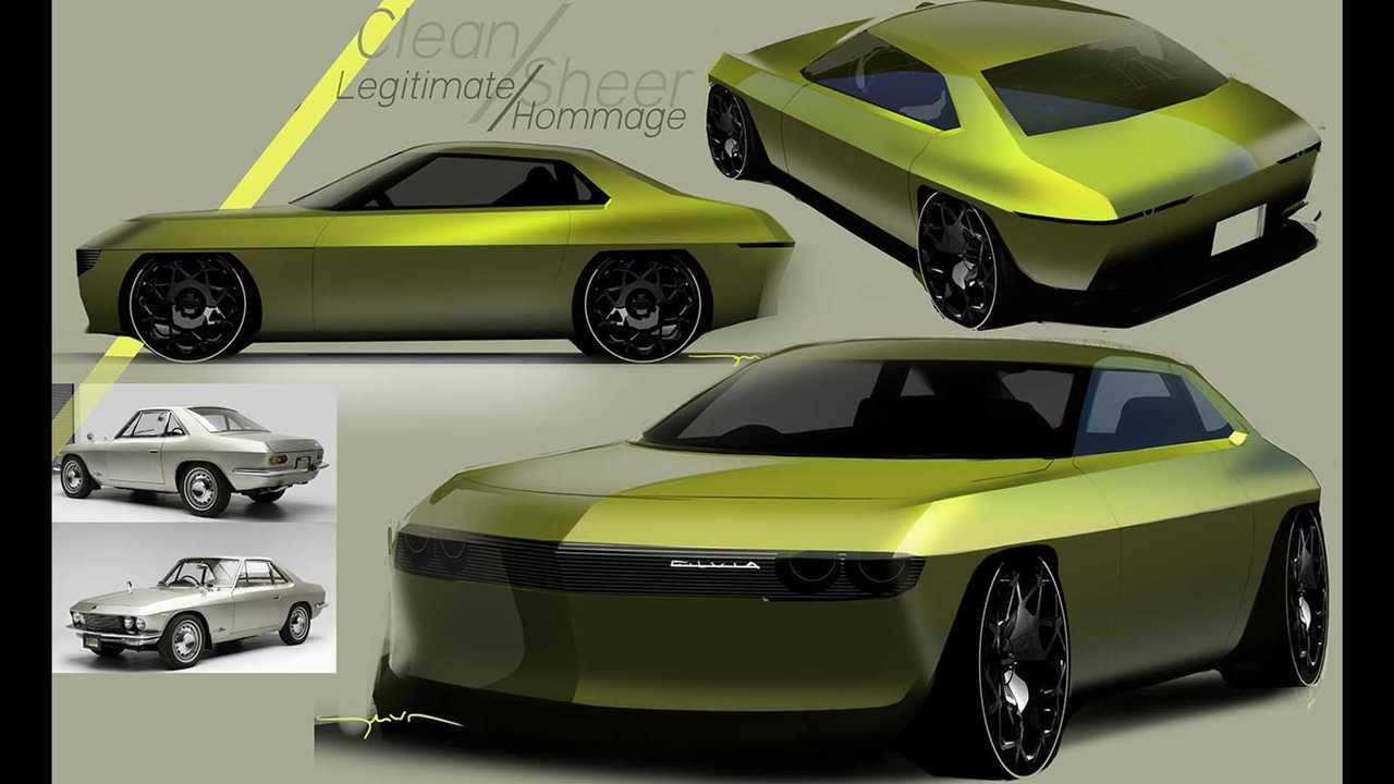 Nissan Silvia CSP311 reimagined as an EV