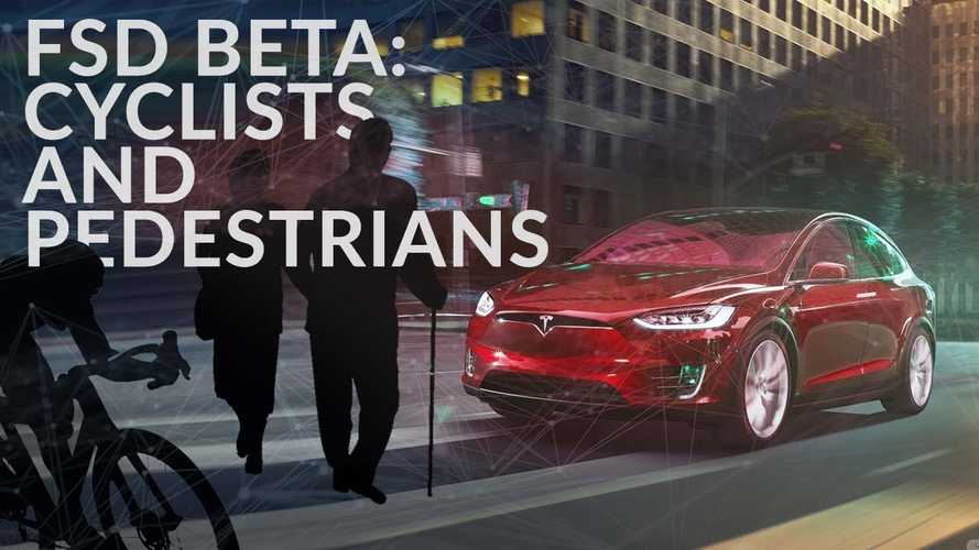 Watch How Tesla On FSD Handles Cyclists And Pedestrians On Road