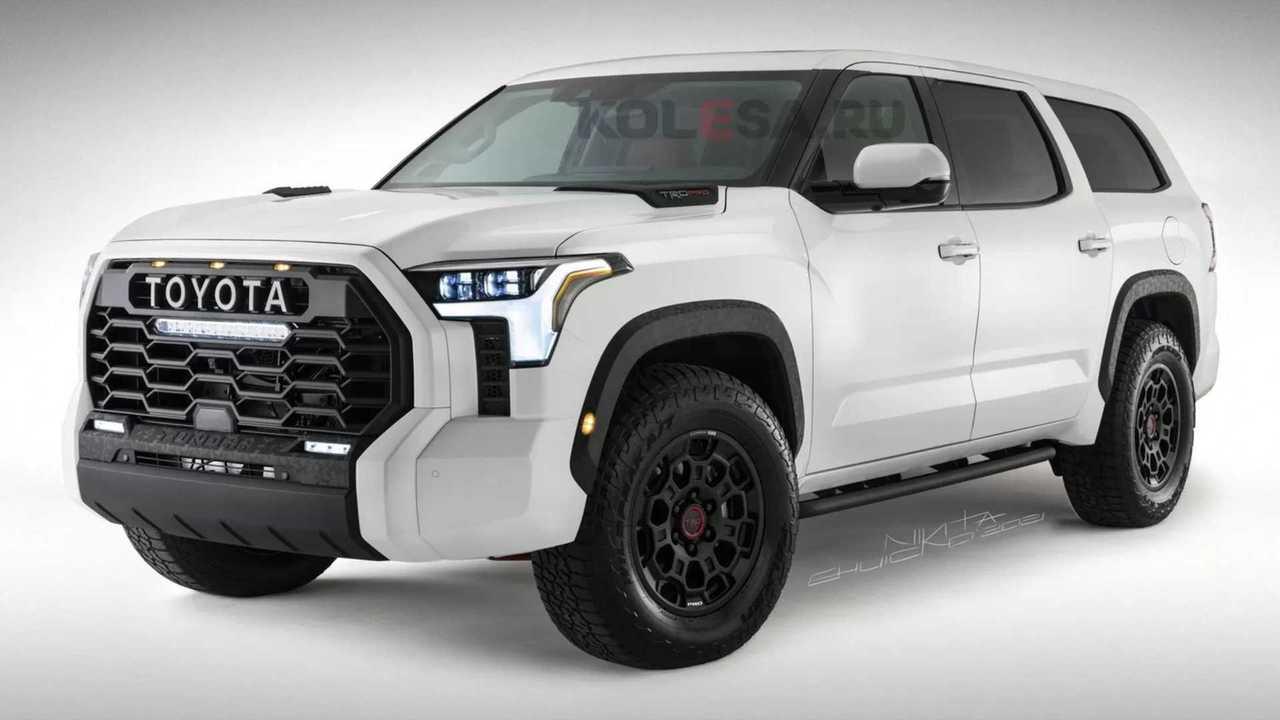Rendering Toyota Sequoia generasi berikutnya.