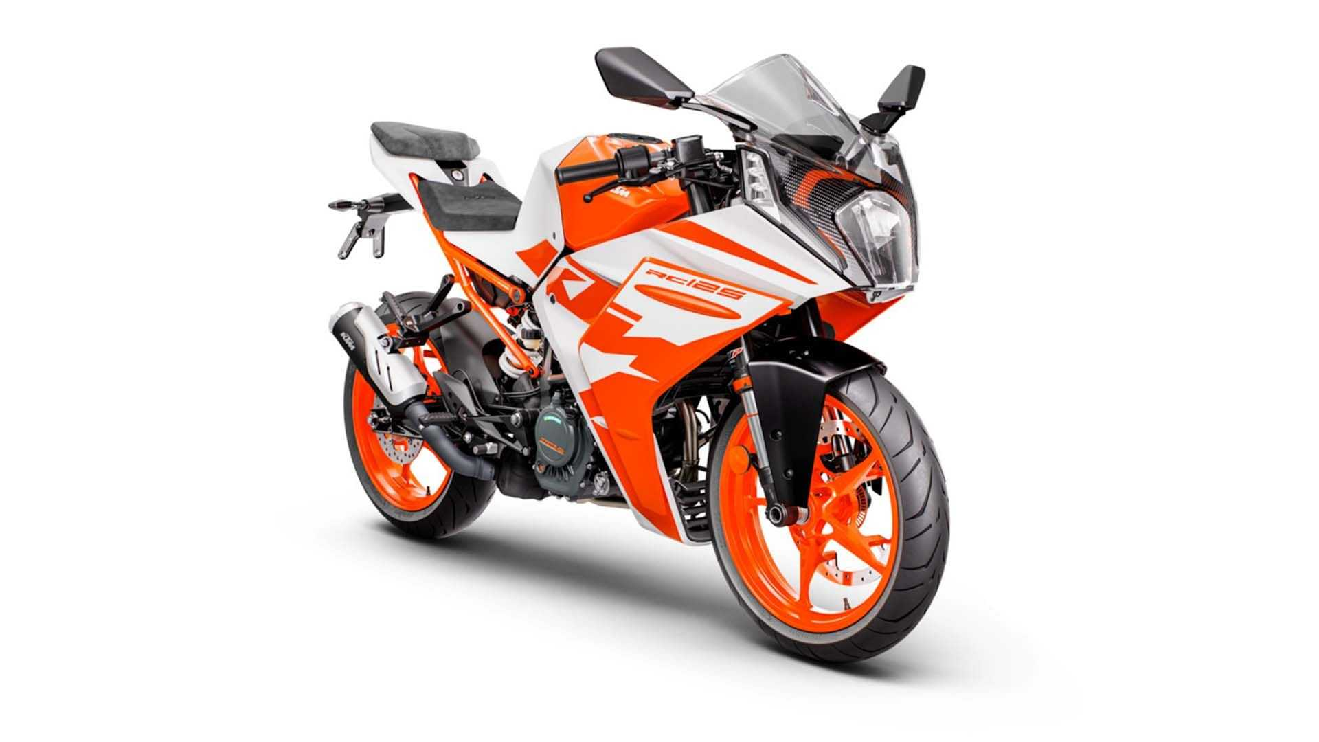 2022 KTM RC 125 - White, Front, Right