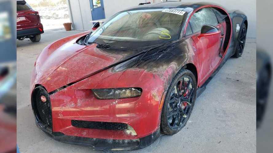 ¿Cuánto pagarías por este Bugatti Chiron quemado?