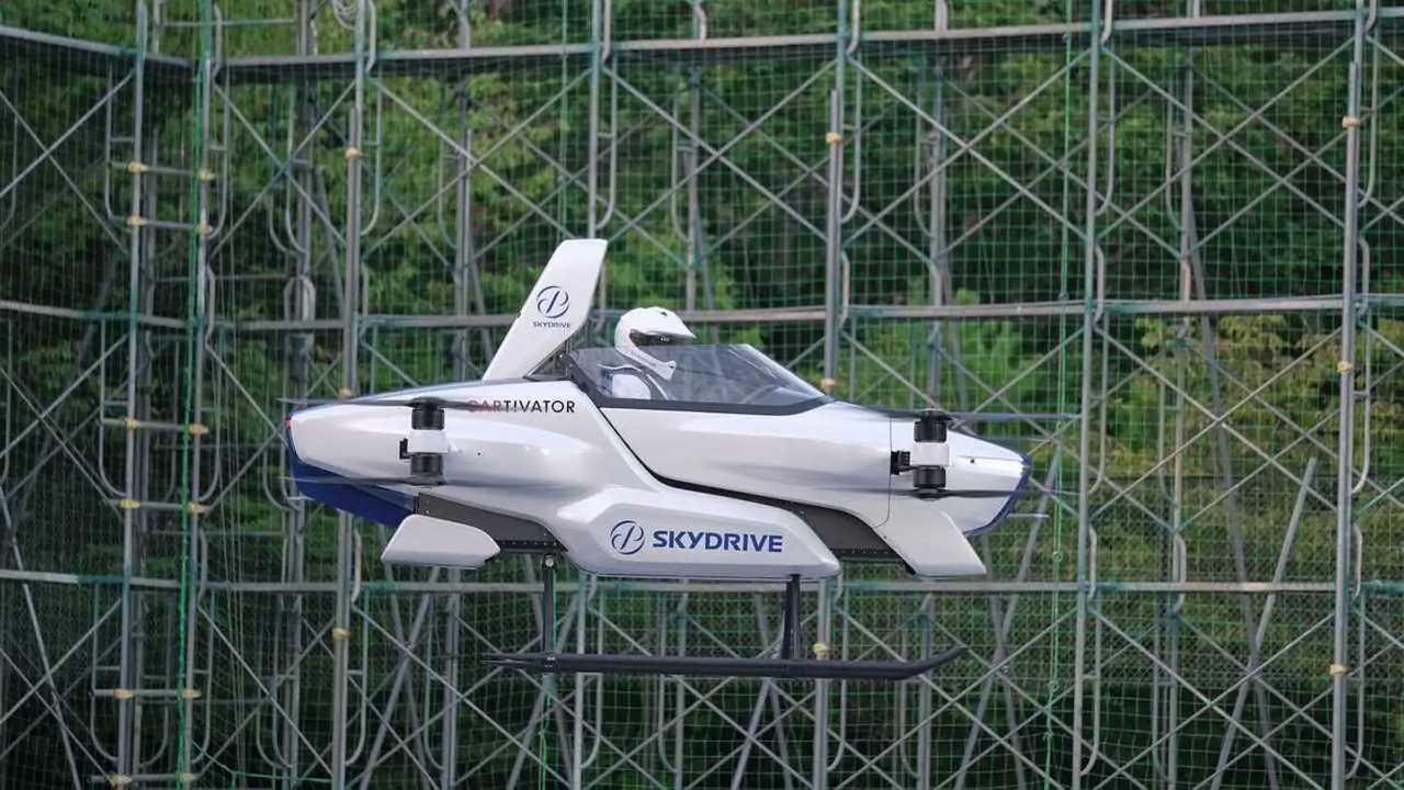 El coche volador de SkyDrive