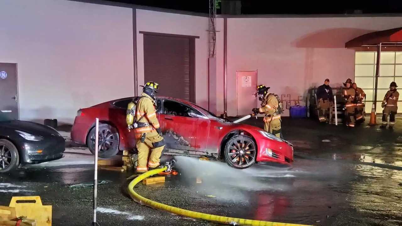 Tesla Model S Fire Marietta GA