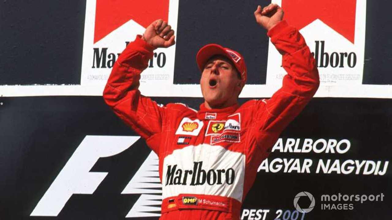 Michael Schumacher at Hungarian GP 2001