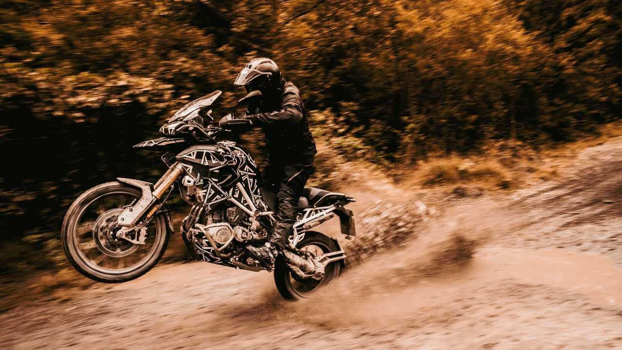 2022 Triumph Tiger 1200 Testing Prototype - Left Side Action