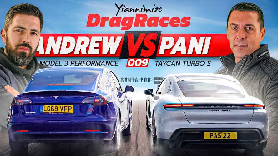 Tesla Model 3P Puts Up A Good Fight Against Porsche Taycan Turbo S