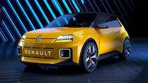 renault5 moderno coche electrico clasico urbano