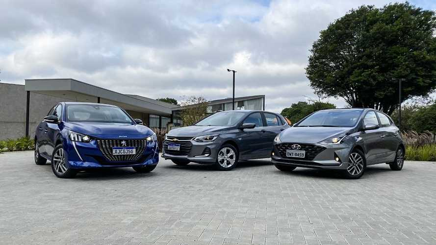Comparativo: Novo Peugeot 208 x Chevrolet Onix x Hyundai HB20