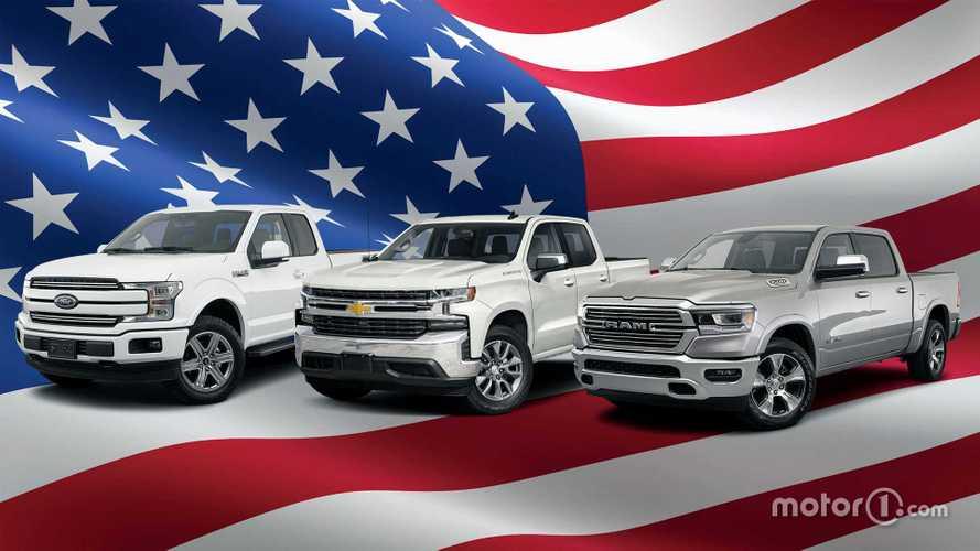 Le auto più vendute d'America sono ancora 3 pick-up