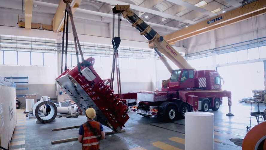 Watch Tesla's Huge Giga Press Being Put Together