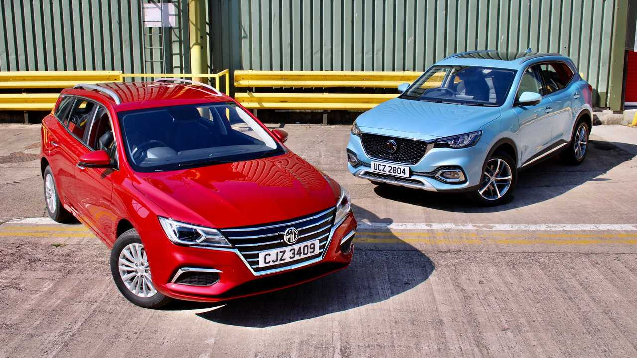 All New MG5 EV and MG HS Plug-in