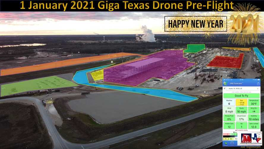 Tesla Giga Austin Progress: January 1, 2021