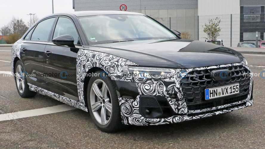 2022 Audi A8 facelift first spy photos