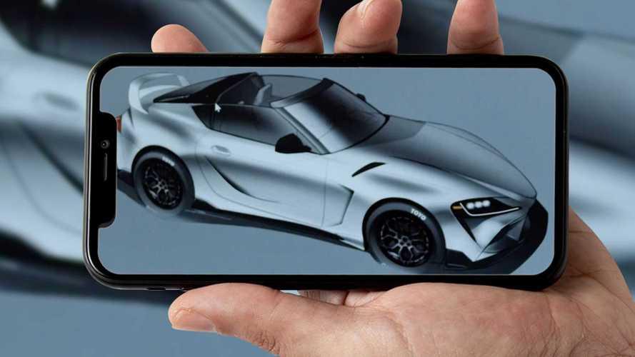 Toyota Supra, il teaser di una bella versione senza tetto