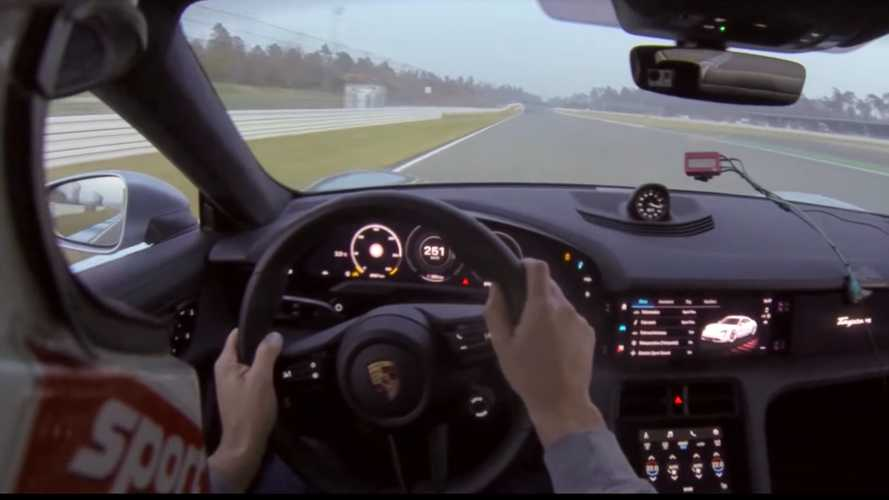 Porsche Taycan Turbo faster than Mustang Shelby GT500 at Hockenheim